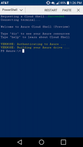 Cloud Shell PowerShell